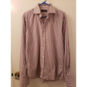 Purple stripes Canali dress shirt 39/25 1/2